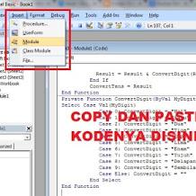 Aplikasi Rumus Terbilang Excel dari Angka Ke Huruf (konversi)
