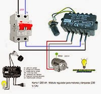 Módulo regulador para motores y lamparas -230V.VCA