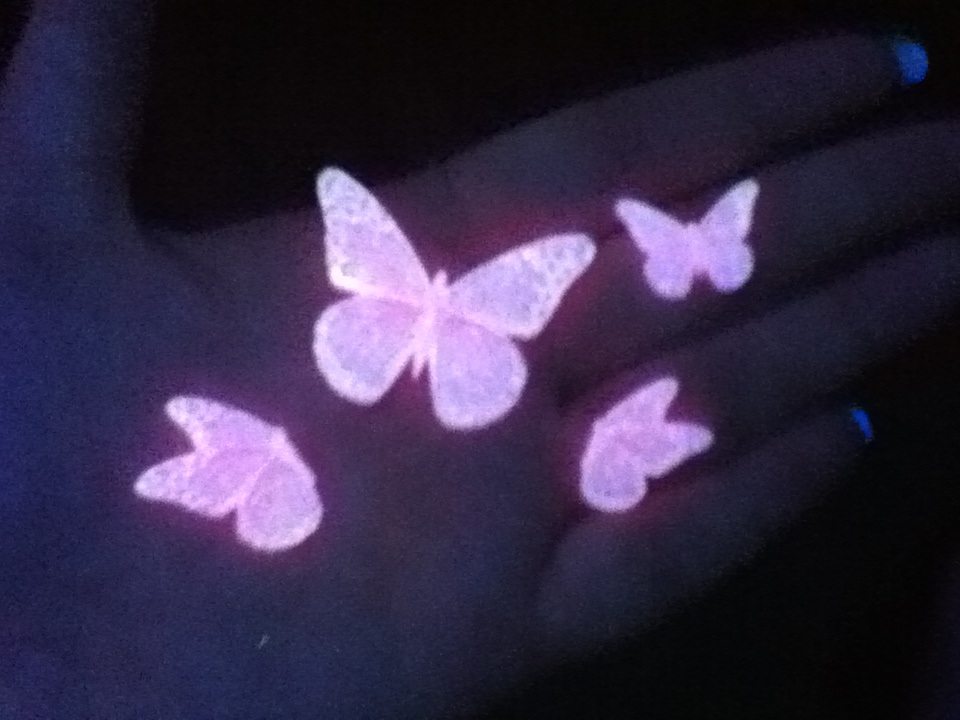 resin jewelry black light and glow in the dark butterflies. Black Bedroom Furniture Sets. Home Design Ideas