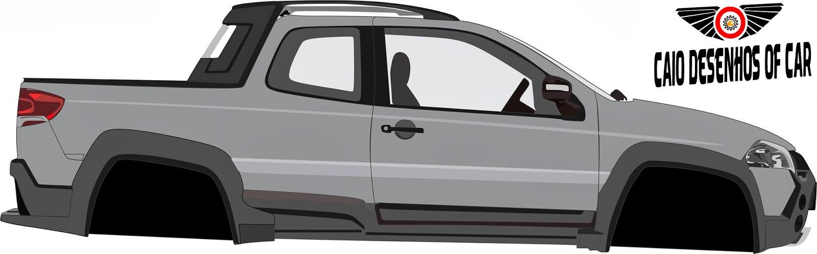 crie seu carro desenhos fiat strada 2014