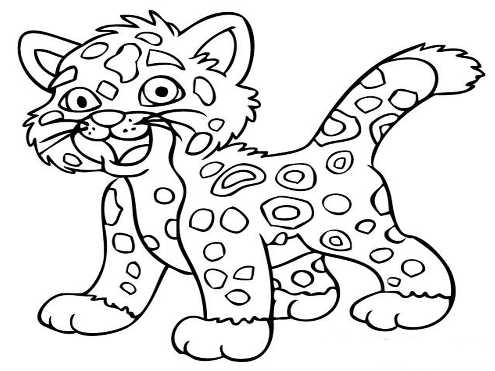 coloring pages baby jaguar - photo#6