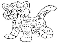 Diego baby jaguar coloring pages to print