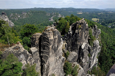 Rock formations in the Switzerland National Park