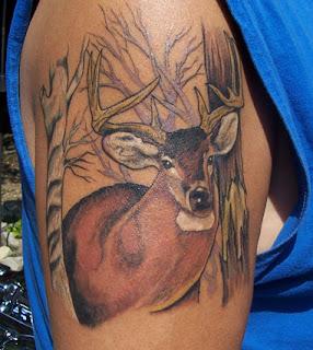 Deer Head Tattoo Design Photo Gallery - Deer Head Tattoo Ideas