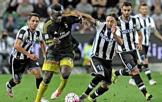 Udinese 2 x 3 Milan - Campeonato Italiano(Calcio) 2015/16