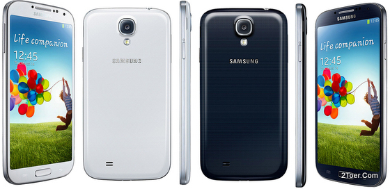 Samsung Galaxy S4 GT-I9500 Black Silver Casing Color