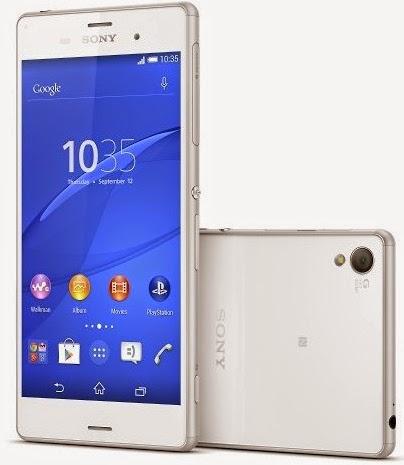 Spesifikasi dan Harga HP Sony Xperia Z3 belakang