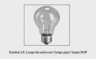 lampu incandescent / lampu pijar / lampu dop