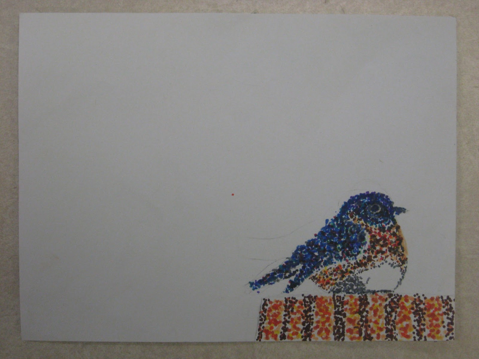 Miss Young's Art Room: 5th Grade Pointillism Birds