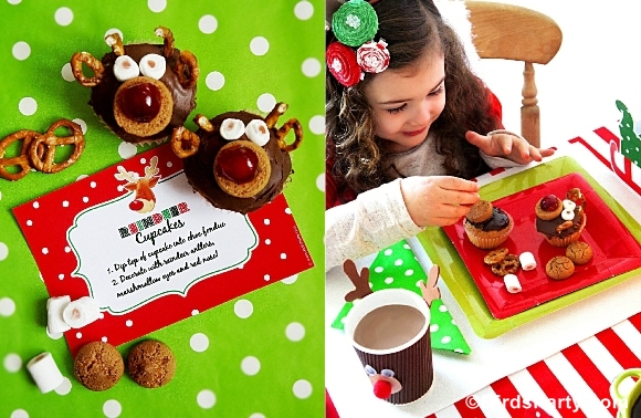 Rudolph Fondue Party for HGTV + FREE Party Printables