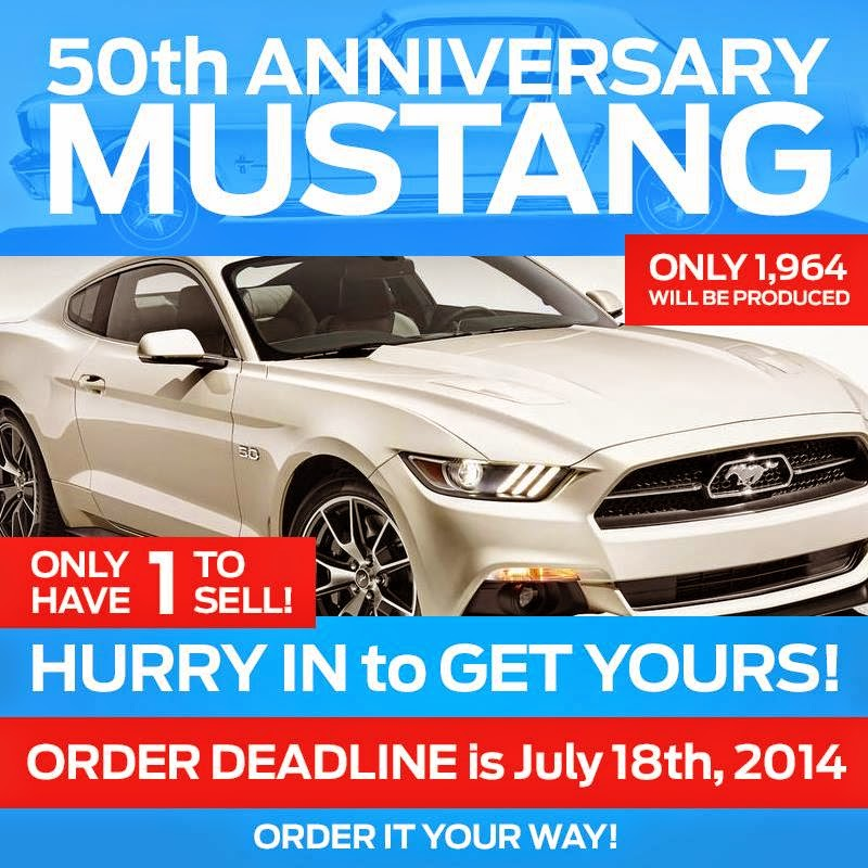 brighton ford 50th anniversary mustang for sale at brighton ford. Black Bedroom Furniture Sets. Home Design Ideas