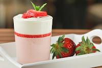 Mousse de fresas con crema de mascarpone