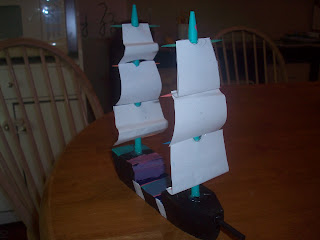 My daughter's version of a whaling ship