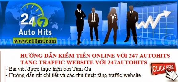 hướng dẫn tăng traffic website với 247autohits