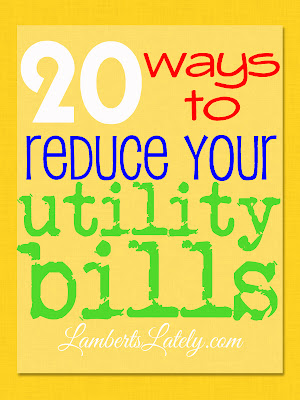20 Ways to Reduce Your Utility Bills...tips on how to cut your utility bill budget! http://www.lambertslately.com/2013/08/10-ways-to-reduce-your-utility-bill.html