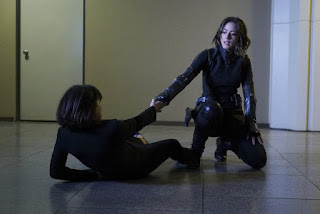"Daisy helping Rosalind in Agents of S.H.I.E.L.D. Season 3, Episode 7 ""Chaos Theory"""