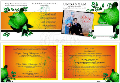 Contoh Undangan Pernikahan Orange Flower (HCGD-05)