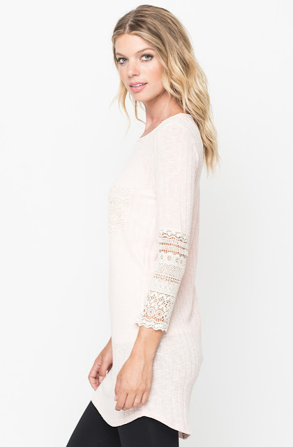 crochet trim tunic