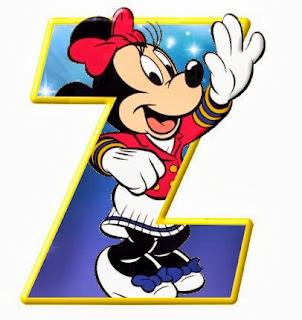 Alfabeto de personajes Disney con letras grandes Z Minnie.