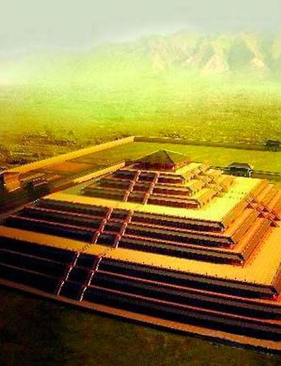 Τρισδιάστατη αναπαράσταση μιας Κινέζικης Πυραμίδας