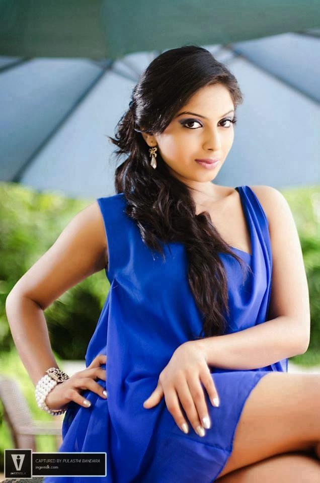 Shehani Wijethunge blue hot