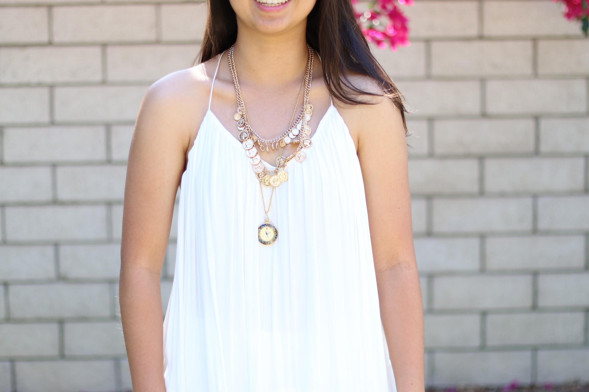 outfit of the day, style, dress, forever 21, tumblr, fashion blogger, layered necklaces