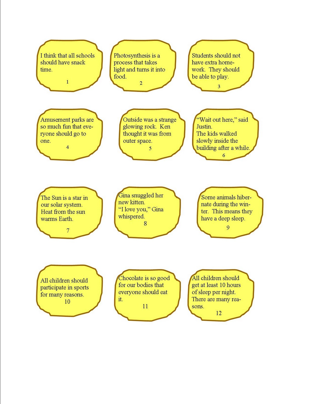 Literacy & Math Ideas: Author's Purpose Snacks