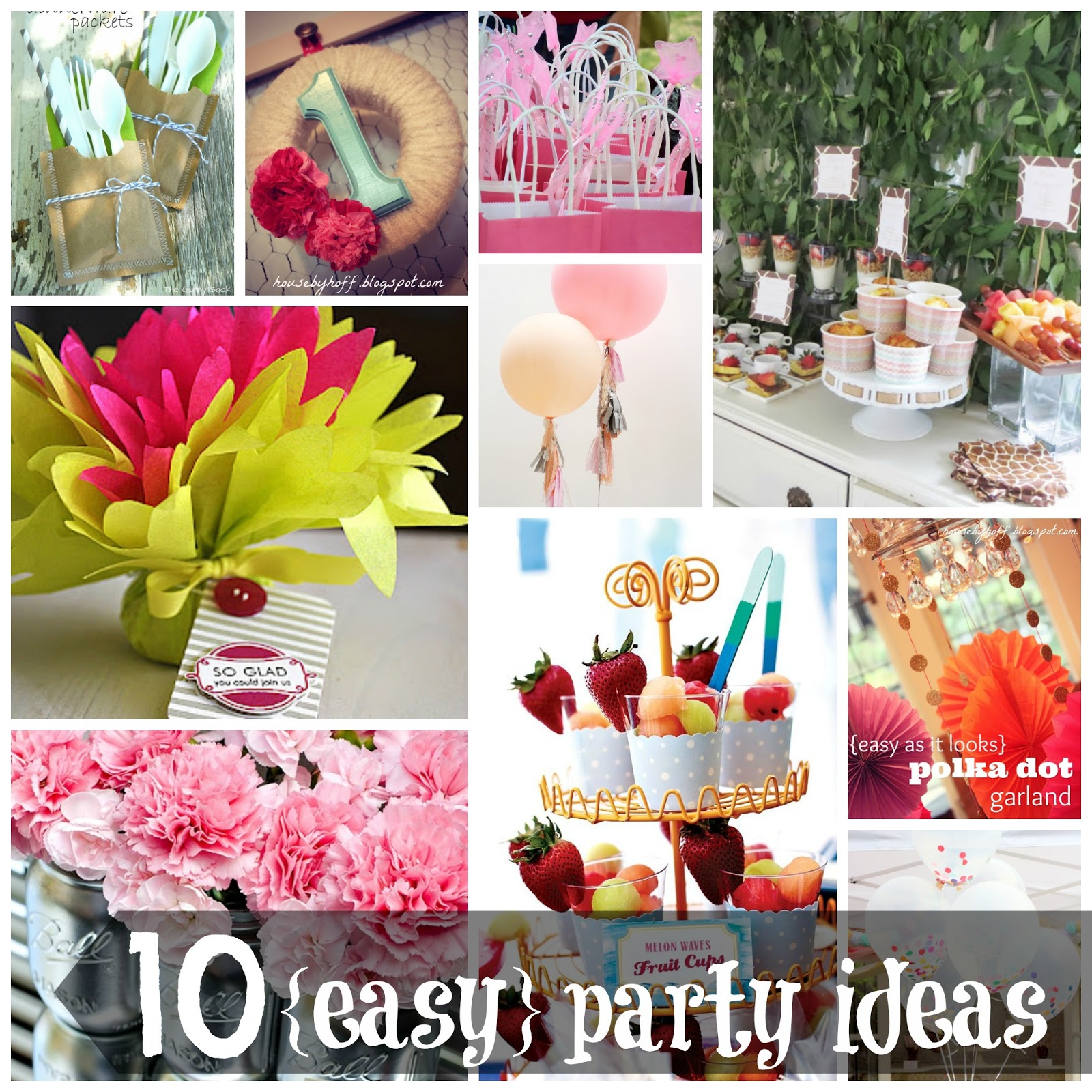 10 easy party ideas 10 easy party ideas diy party birthdayparty babyshower partydecor solutioingenieria Image collections