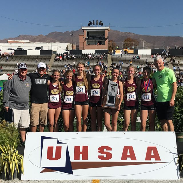 Girls 5A 2nd place Cross Country state championship/ Region 8 Champions