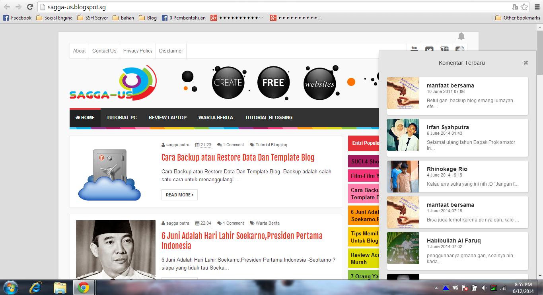 Membuat Notitikasi Komentar Blog Seperti Google Plus