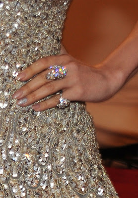 Jennifer Lopez Diamond Cocktail Ring
