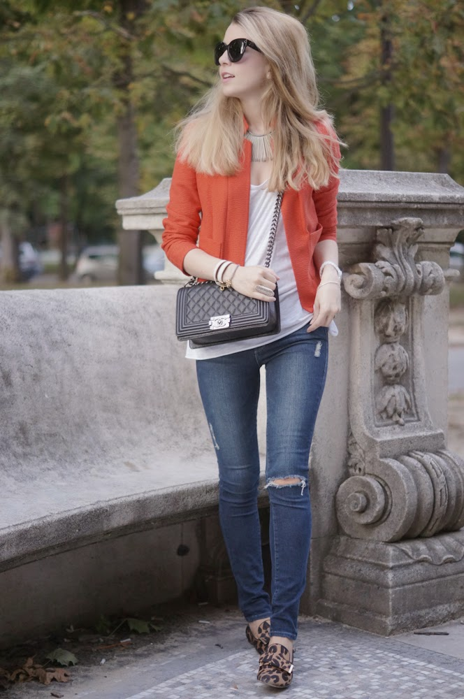 sandro, frame denim, ripped jeans, chanel, vuitton, paris, fashion blogger, look du jour, outfit
