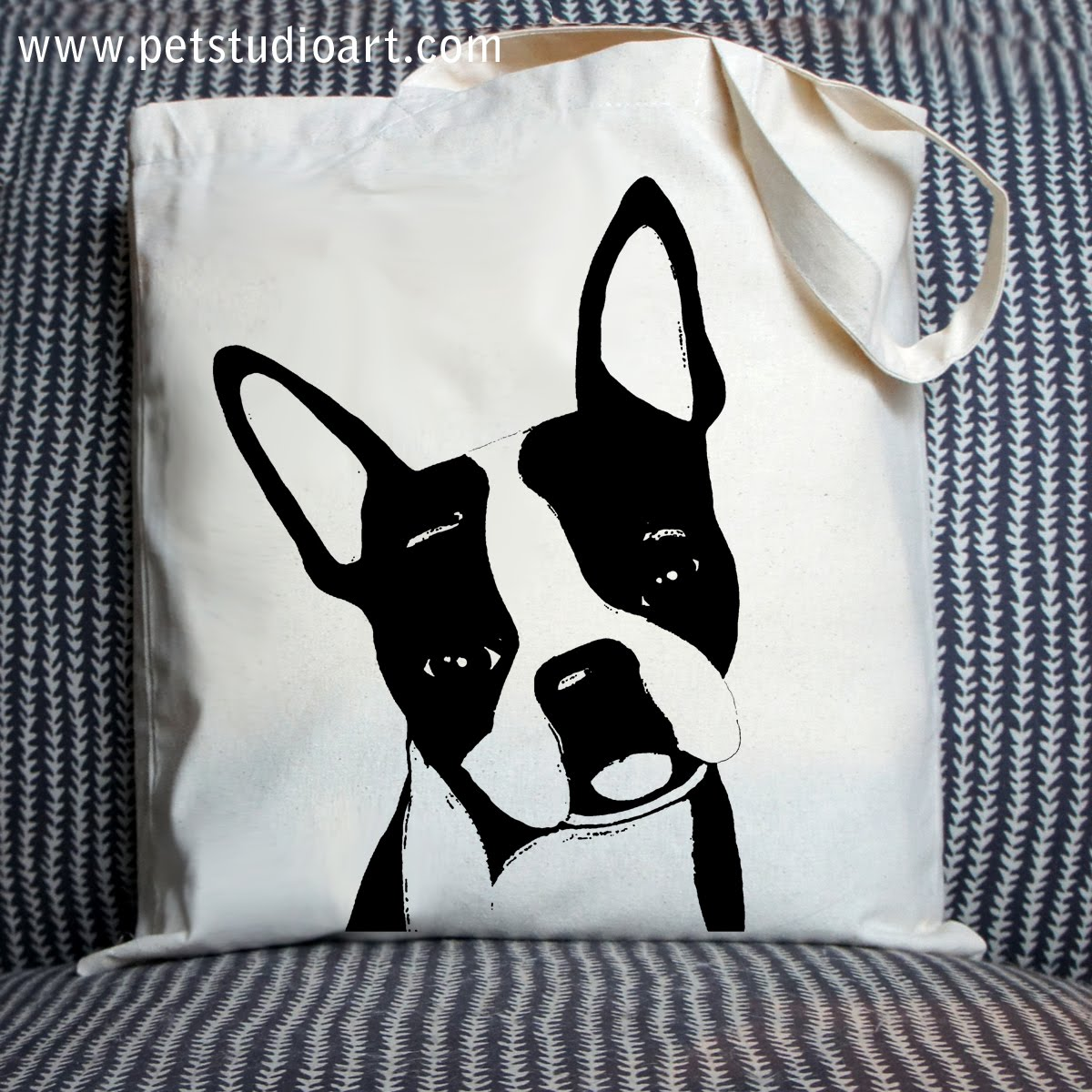 Duke the Boston Terrier Tote Bag  $15