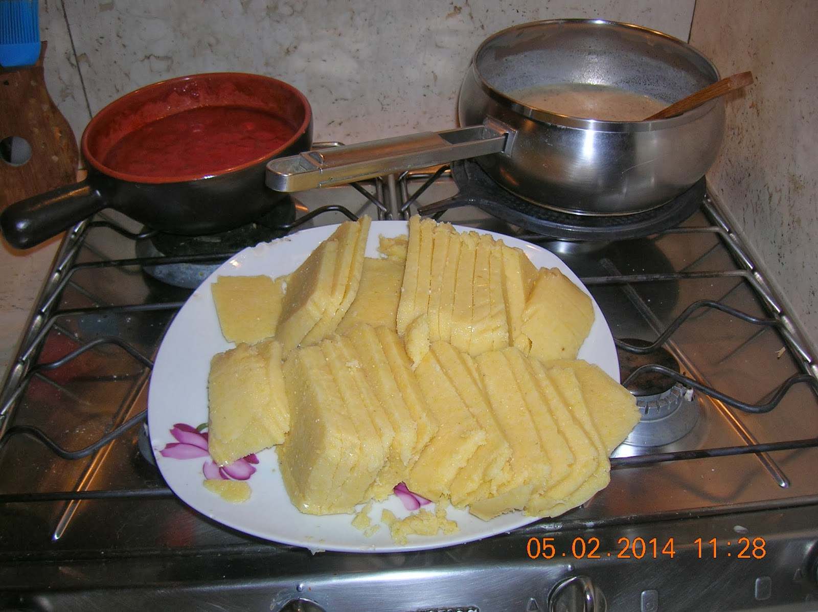 polenta   semplice a fette in forno - tortino di carote rivisitato