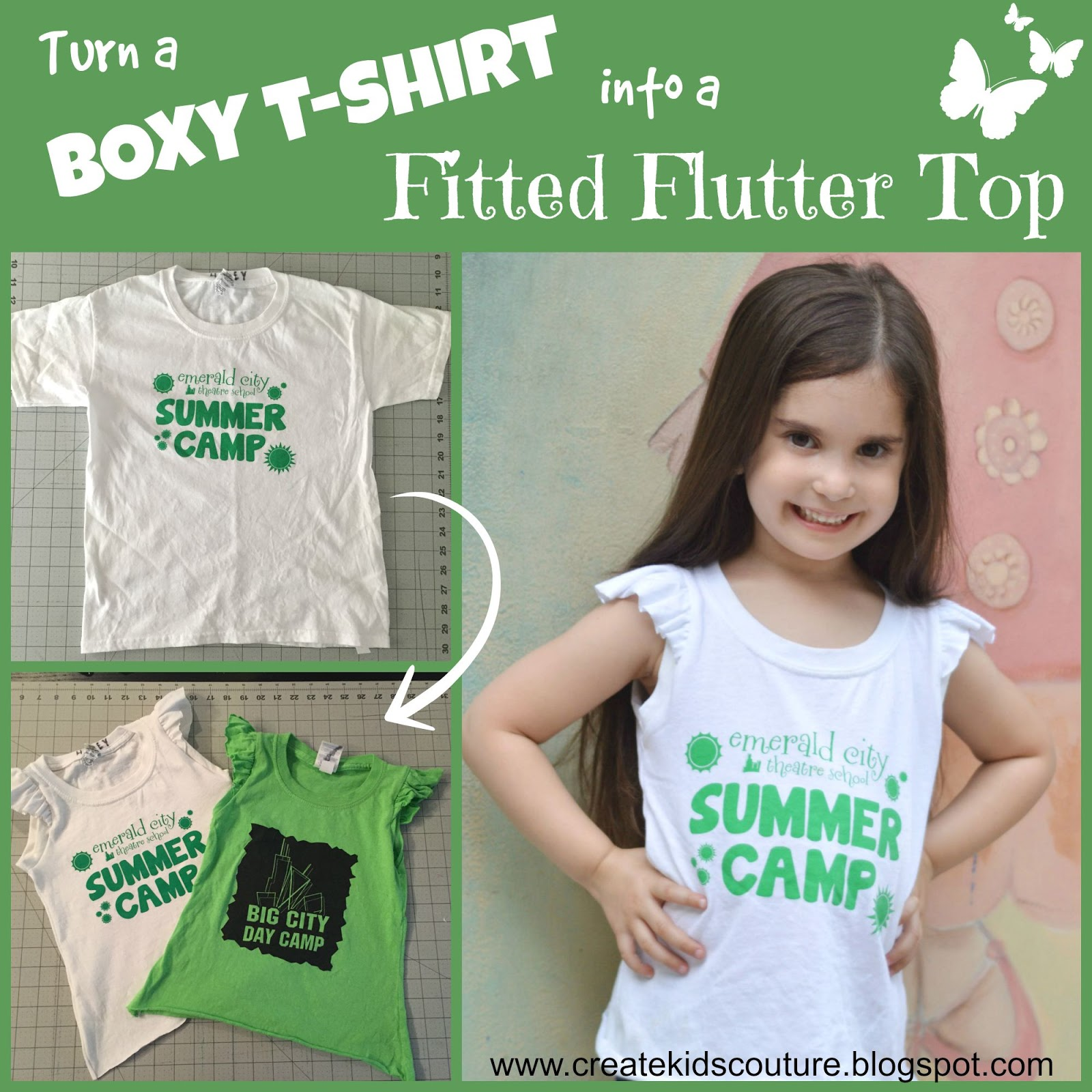 Create kids couture turning a boxy tee into a flutter sleeve top since you asked for more details i decided to write up a tutorial on how to turn an ordinary boxy kids shirt into a curvy top with flutters jeuxipadfo Images