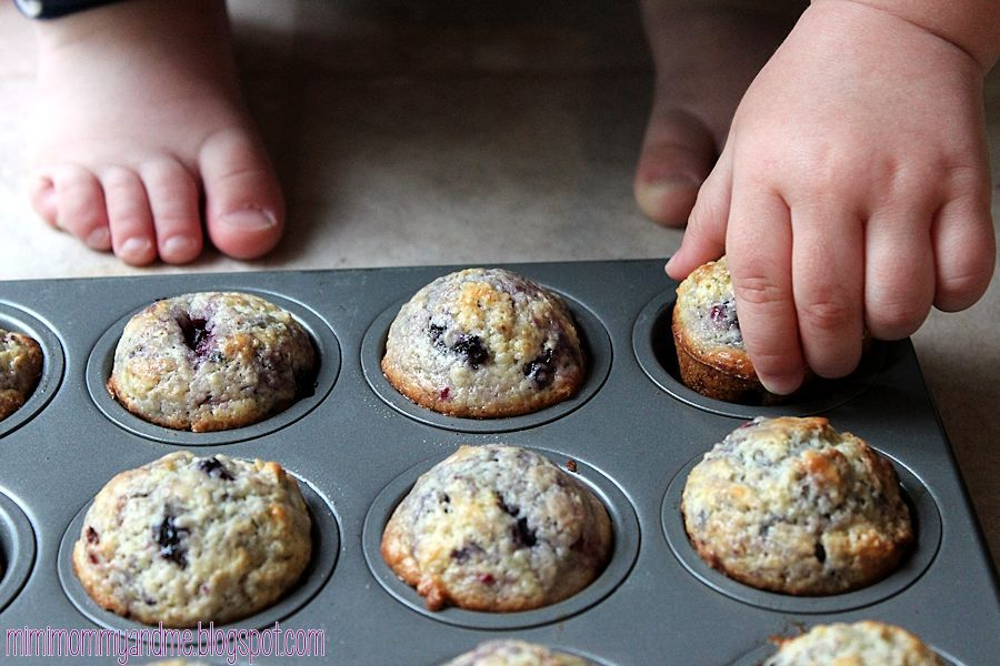 Triple Berries and Cream Muffins