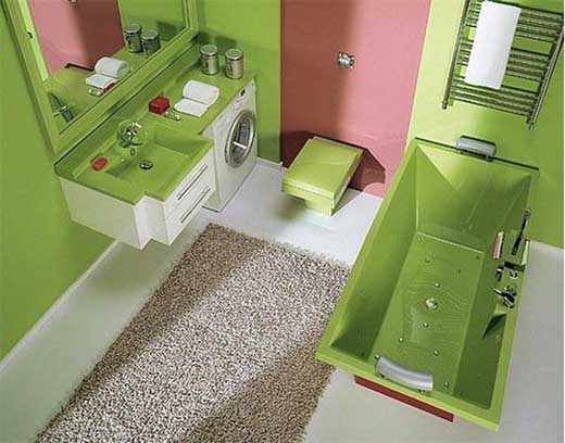 The gal guide to awesome living for Lime green bathroom ideas pictures