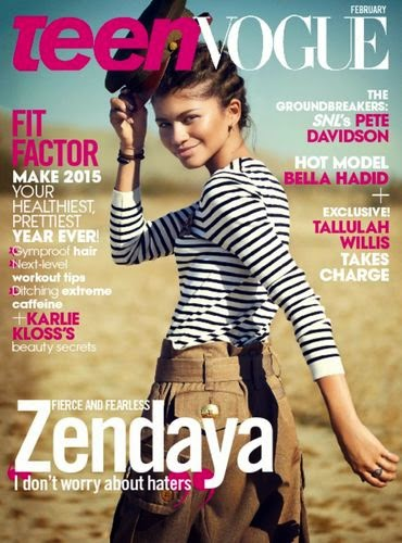 Zendaya looking fierce and fearless on the cover of Teen Vogue magazine for their February 2015 issue