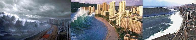 2)Зловещая внезапность появления цунами.