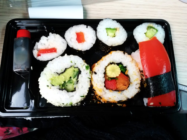 Marks and Spencer vegetable sushi prepacked