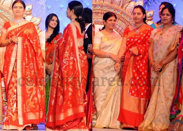 Celebrities Uppada Benaras Sarees