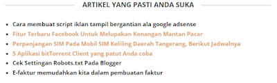 Tips Blog Cara Membuat Random Post SEO Friendly Yang Simple dan Ringan