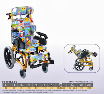 CP wheelchair for spastic child