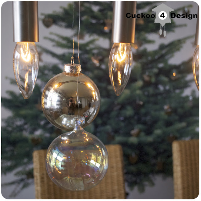 Christmas cellula chandelier