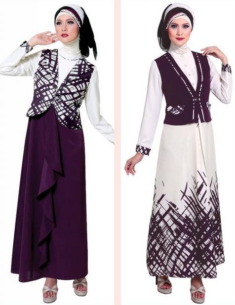 Busana atasan baju gamis muslim brokat modern murah Baju gamis versi 2015