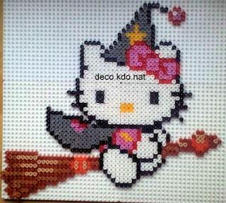 Deco kdo nat perles hama hello kitty sorci re sur balai for Deco 50 balais