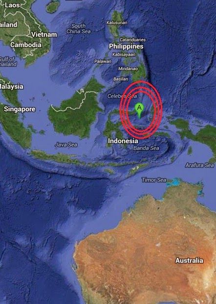 Magnitude 4.7 Earthquake of Tobelo, Indonesia 2014-09-07