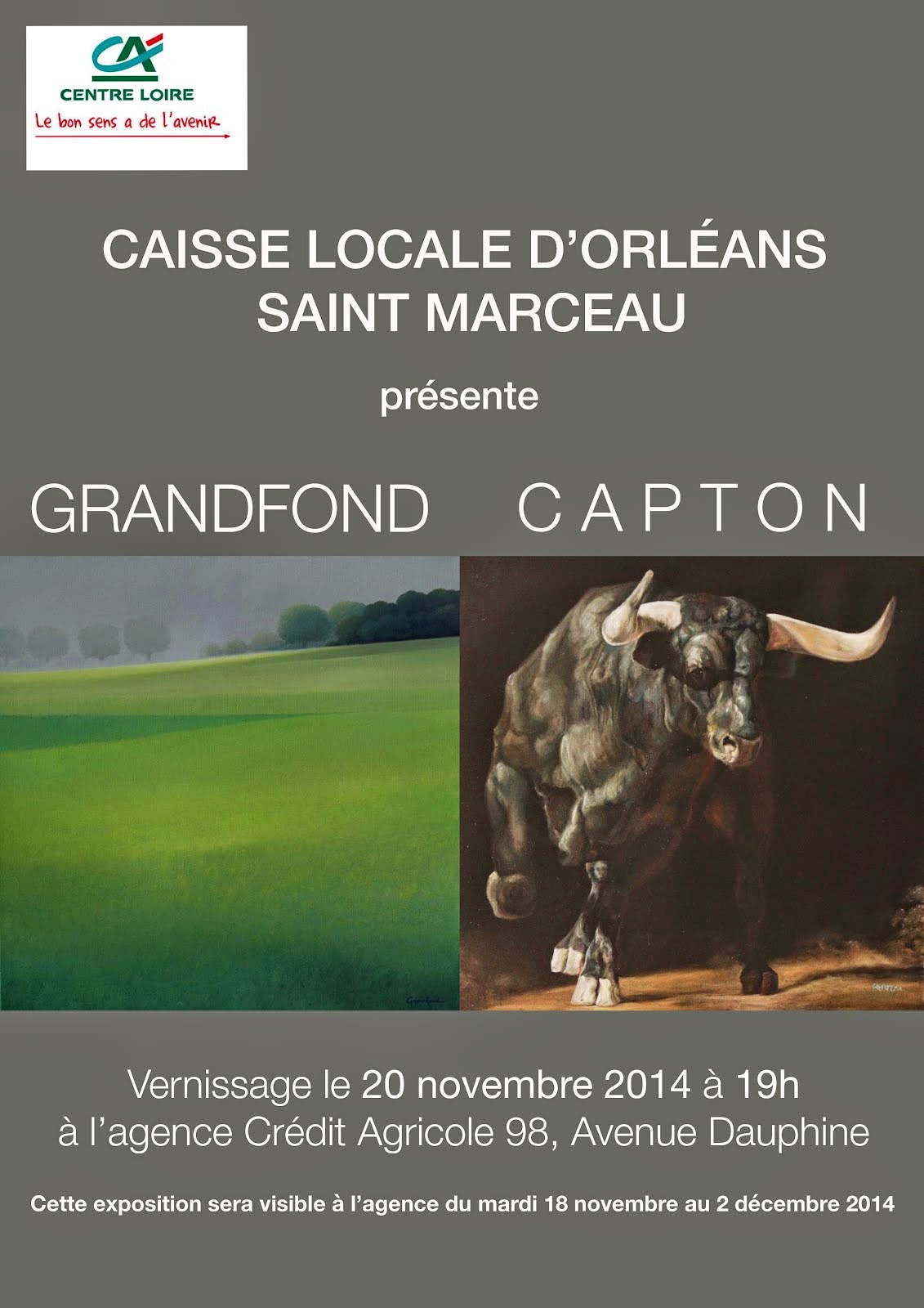 ORLÉANS : CAPTON ET GRANDFOND EXPOSENT ENSEMBLE