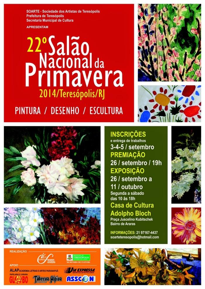 XXII Salão Nacional da Primavera de Teresópolis na Casa de Cultura dia 26/09/14