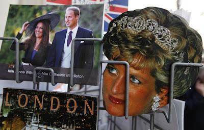 принц Уилям и Кейт Мидълтън, както и принцеса Даяна.